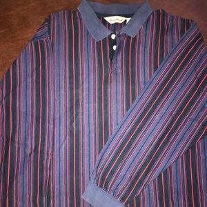 Vintage Eddie Bauer striped rugby polo shirt retro